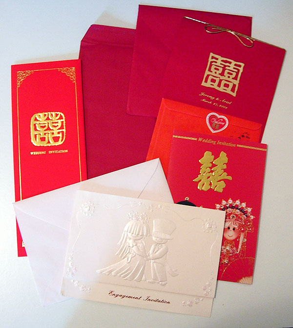 Chinese Wedding Invitations. Photo by Prattflora